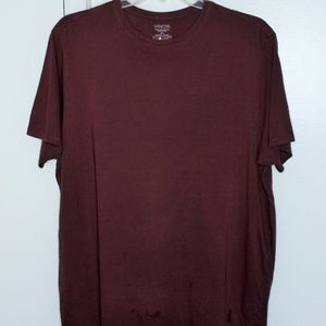 Vince Wine Crew Neck  Pima Cotton Tshirt XXL